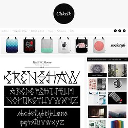 Clik clk – Blog D'inspiration : Graphisme, Photographie & Mode » Matt W. Moore