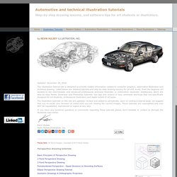 Illustration tutorials for technical and automotive illustrators and art students