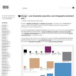 Design : une illustration peut-être, une infographie sûrement pas ! » UXUI