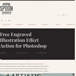 Free Engraved Illustration Effect Action for Photoshop