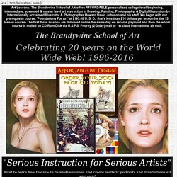 Art Lessons; The Brandywine School of Art: featuring Realistic Illustration and Portraiture in a home study art school: Affordable Lessons in drawing, painting, photography & digital media