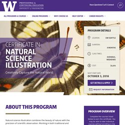 Certificate in Natural Science Illustration - UW Professional & Continuing Education