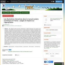 Les illustrations interactives dans le manuel scolaire numérique en France : usages et impacts sur l'appropriation