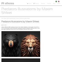 Predators Illustrations by Maxim Shkret