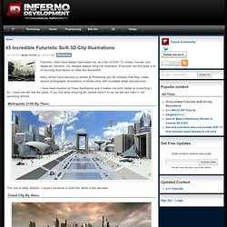 45 Incredible Futuristic Scifi 3D City Illustrations | Inferno Development