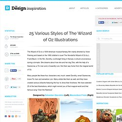 25 Various Styles of The Wizard of Oz Illustrations