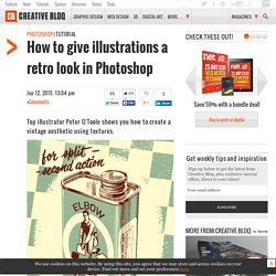 How to give illustrations a retro look in Photoshop