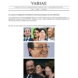 Le curieux manège des illustrations d'articles politiques (le cas Hollande)