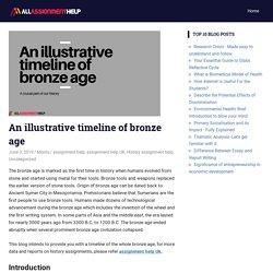 An illustrative timeline of bronze age