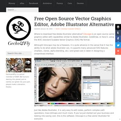 Free Open Source Vector Graphics Editor, Adobe Illustrator Alternative