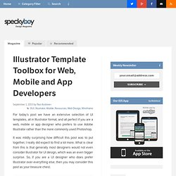 Illustrator Template Toolbox for Web, Mobile and App Developers-Speckyboy Design Magazine