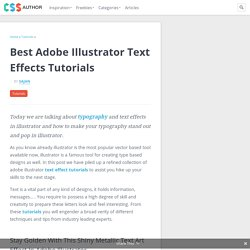 Adobe Illustrator Text Effects Tutorials »CSS Author