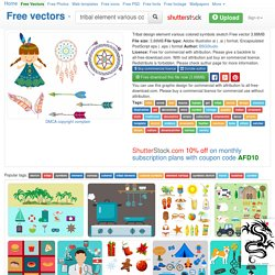 Tribal design element various colored symbols sketch Free vector in Adobe Illustrator ai ( .ai ) format, Encapsulated PostScript eps ( .eps ) format format for free download 3.88MB