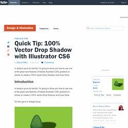 100% Vector Drop Shadow with Illustrator CS6
