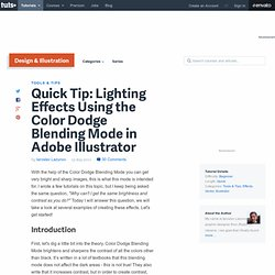 Lighting Effects Using the Color Dodge Blending Mode in Adobe Illustrator