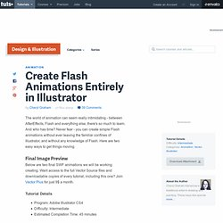 Create Flash Animations Entirely in Illustrator