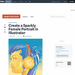 Create a Sparkly Female Portrait in Illustrator