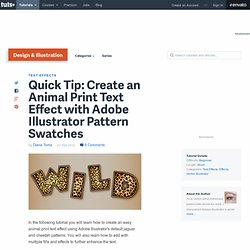 Create an Animal Print Text Effect with Adobe Illustrator Pattern Swatches