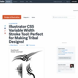 Illustrator CS5 Variable Width Stroke Tool: Perfect for Making Tribal Designs!