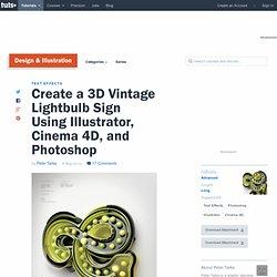 Create a 3D Vintage Lightbulb Sign