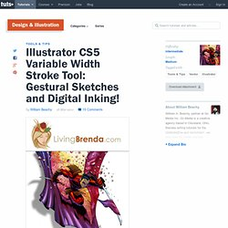 Illustrator CS5 Variable Width Stroke Tool: Gestural Sketches and Digital Inking!