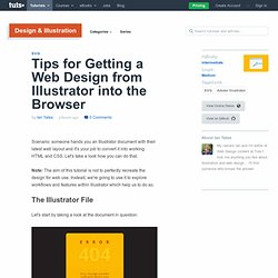 Tips for Getting a Web Design from Illustrator into the Browser