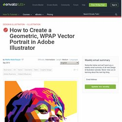 How to Create a Geometric, WPAP Vector Portrait in Adobe Illustrator