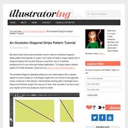 Illustrator Diagonal Stripe Patterns - illustratoring.com