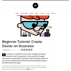 Beginner Tutorial: Create Dexter on illustrator