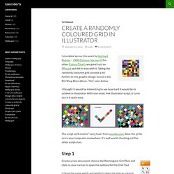 Create a randomly coloured grid in Illustrator — lukeroberts