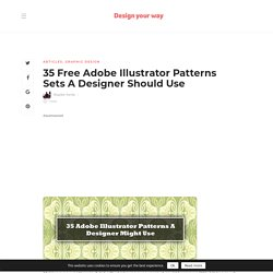 35 Adobe Illustrator Patterns Sets A Designer Should Use