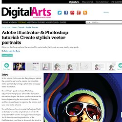 Adobe Illustrator & Photoshop tutorial: Create stylish vector portraits