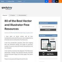 80 of the Best Vector and Illustrator Free Resources : Speckyboy
