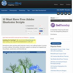 10 Must Have Free Adobe Illustrator Scripts at DzineBlog