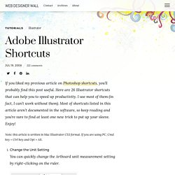 Adobe Illustrator Shortcuts - Web Designer Wall - Design Trends and Tutorials