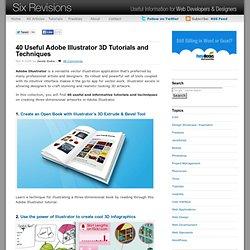40 Useful Adobe Illustrator 3D Tutorials and Techniques