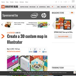 Create a 3D custom map in Illustrator