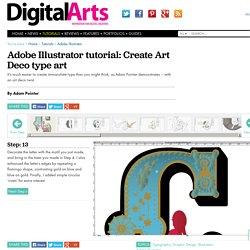 Adobe Illustrator tutorial: Create Art Deco type art
