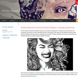 Adobe Illustrator tutorial by Madis Põldsaar: creating stylized hair « Adobe Illustrator blog