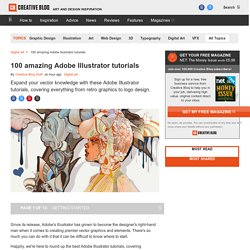 100 amazing Adobe Illustrator tutorials