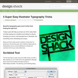 5 Super Easy Illustrator Typography Tricks