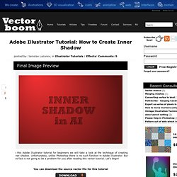 How to Create Inner Shadow in Adobe Illustrator - Illustrator Tutorials