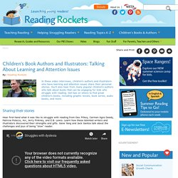 Children's Book Authors and Illustrators: Talking About Learning and Attention Issues