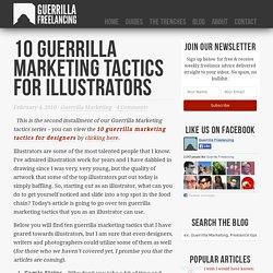 10 guerrilla marketing tactics for illustrators