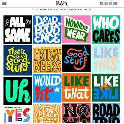 Bernstein & Andriulli - Illustrators - Adam Hayes - Typography & Lettering