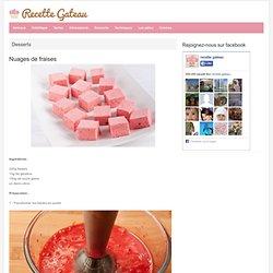 Nuages de fraises