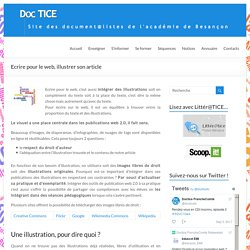 Ecrire pour le web, illustrer son article – DocTICE