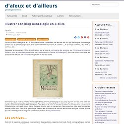 Illustrer son blog Généalogie en 3 clics