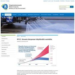 IPCC: Ilmasto lämpenee hälyttävällä va