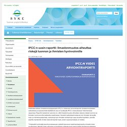 IPCC:n uusin raportti: Ilmastonmuutos aiheuttaa riskejä luonnon ja ihmisten h...